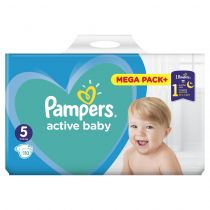Pampers Pieluszki Junior 5 Active baby (11-16 kg) MEGA PACK+ 110 szt.