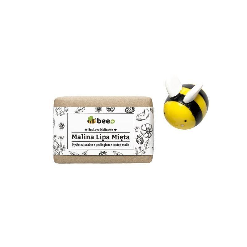 MYDLARNIA 4 SZPAKI Naturalne mydło peelingujące Malina, Lipa, Mięta - peeling 110 g