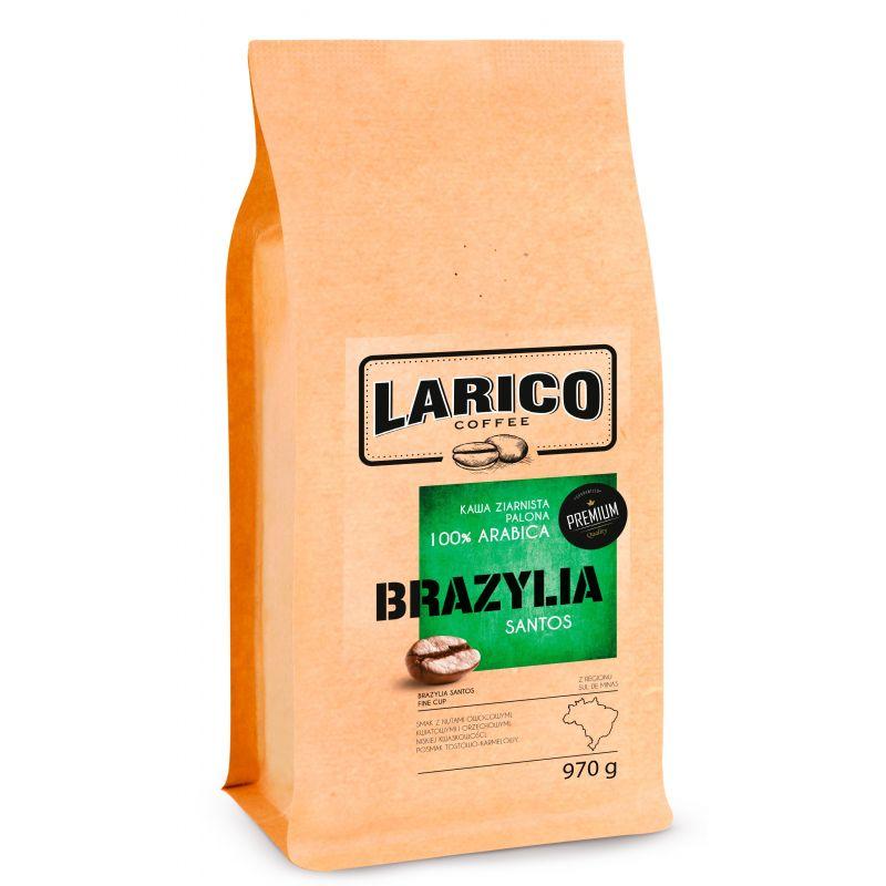 LARICO COFFEE Kawa ziarnista wypalana metodą tradycyjną Brazylia Santos 970 g