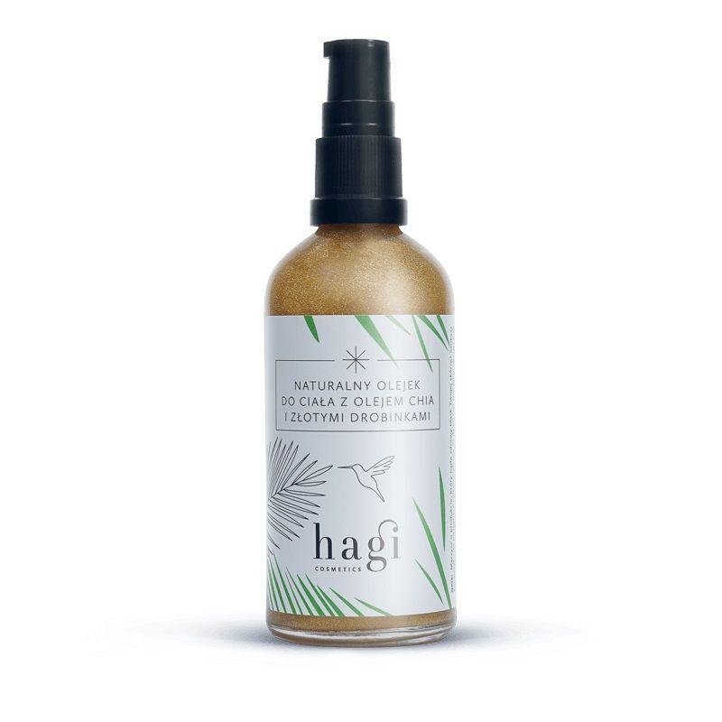 HAGI COSMETICS Naturalny olejek do ciała z olejem chia i złotymi drobinkami 100 ml